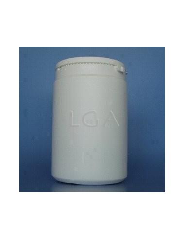 Pilulier plastique blanc 1000ml- à couvercle LO inviolable