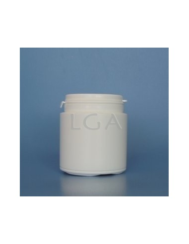 Cojee a píldoras plástico blanco 150ml con boca ancha con cápsula de seguridad