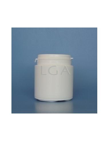 Zoppica a pillole in plastica bianco 150ml con a pertura grande con capsula antimanomissione