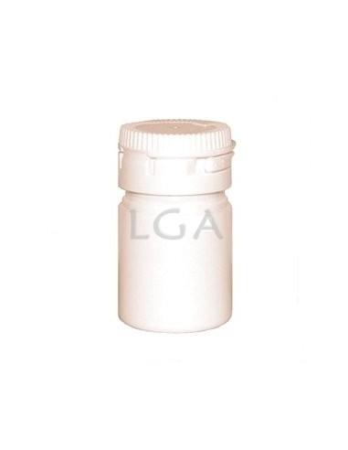 Pilulier plastique blanc 15ml, à couvercle inviolable