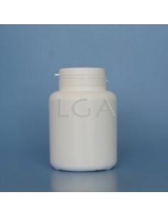 Pilulier plastique blanc 200ml, à couvercle US inviolable