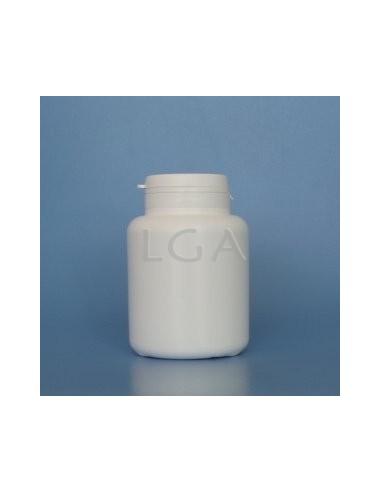 Pilulier plastique blanc 200ml- à couvercle US inviolable