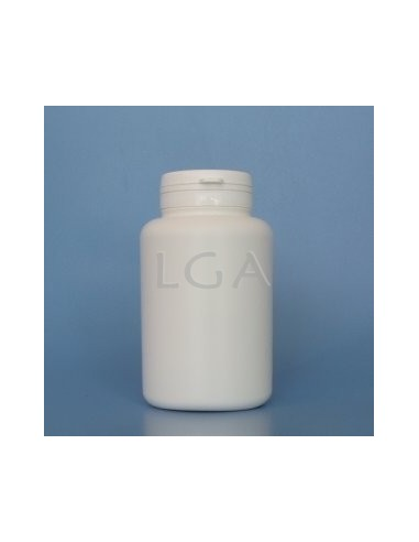 White plastic capsule box 250ml with impregnable wide cap