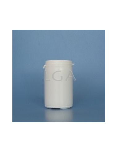 Zoppica a pillole in plastica bianco 75ml con capsula antimanomissione