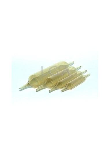 Ampoules verre jaune, autocassables, deux pointes