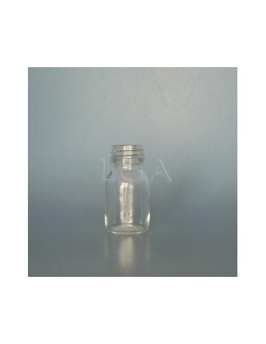 Flacon verre rond PP28 blanc 30ml