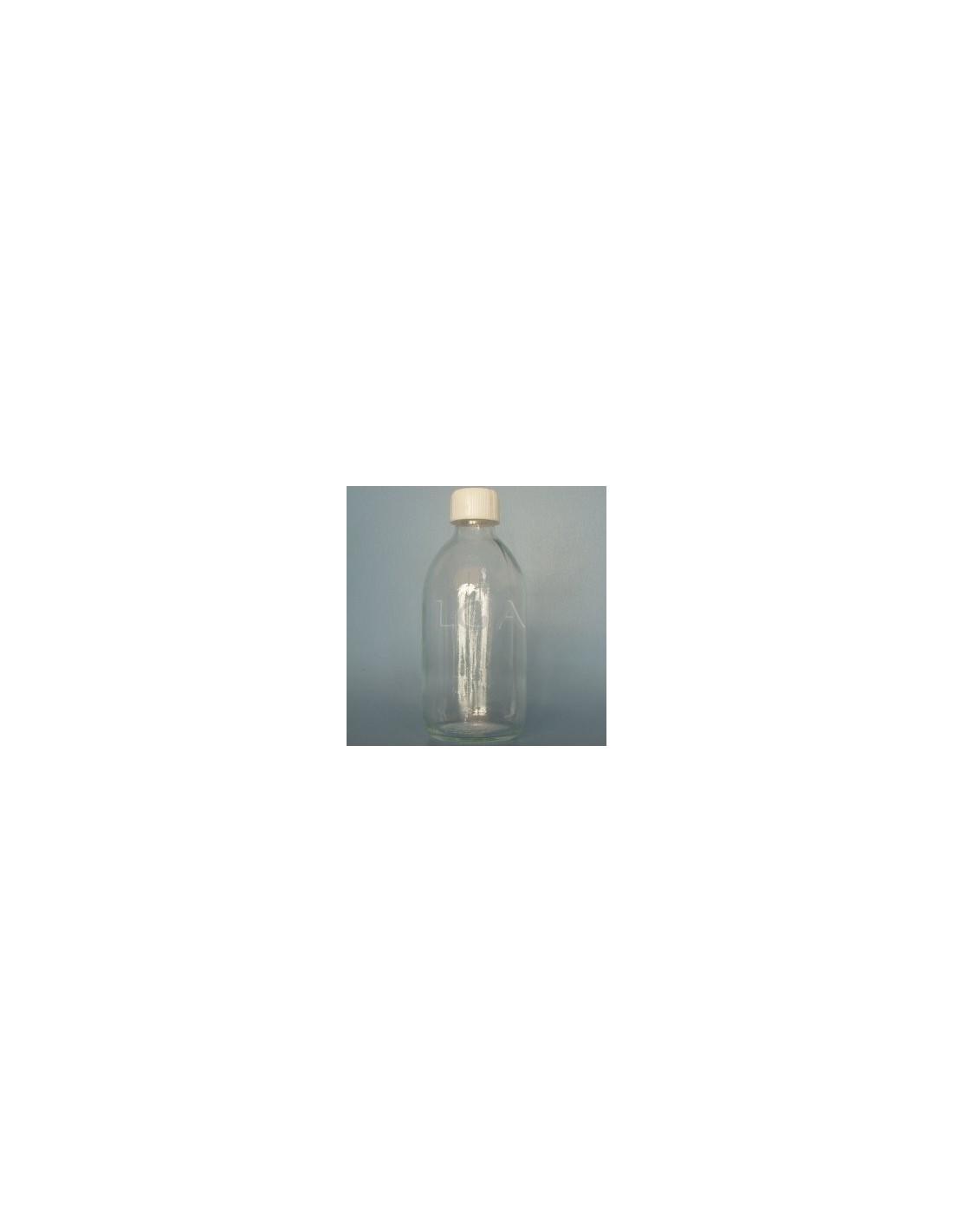 Rundes flaschchen aus weisses glas opp28 300ml for Wei es glas