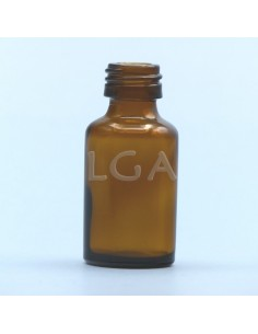 Amber glass round bottle...