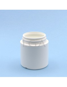 White plastic capsule box...