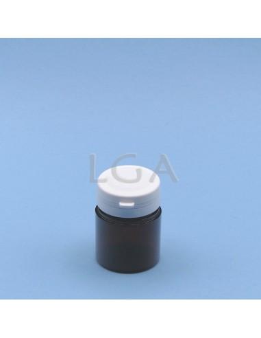 Crystal amber plastic capsule box...