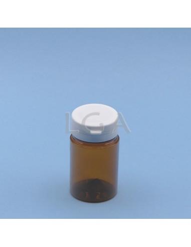 Pilulier plastique ambré cristal...
