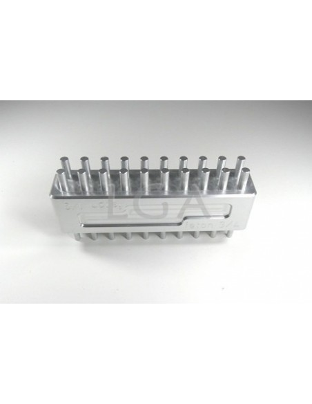 Tasseur aluminium 20 doigts (100 gélules)