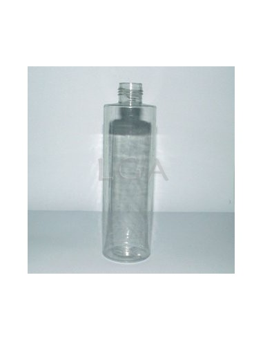 Flacon rond PVC cristal Ø22 250ml