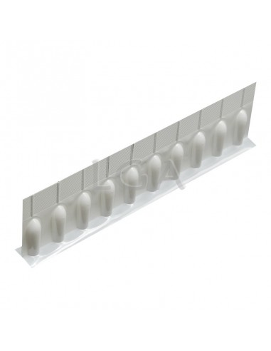 Suppository moulds: Flexible strip of 10