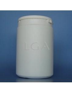 Pilulier plastique blanc 1000ml, à couvercle LO inviolable