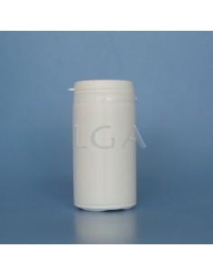 Pilulier plastique blanc 100ml, à couvercle inviolable
