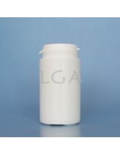 Pilulier plastique blanc 125ml, à couvercle inviolable