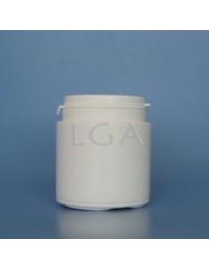 Pilulier plastique blanc 150ml, à couvercle LO inviolable