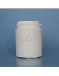 Pilulier plastique blanc 200ml, à couvercle LO inviolable