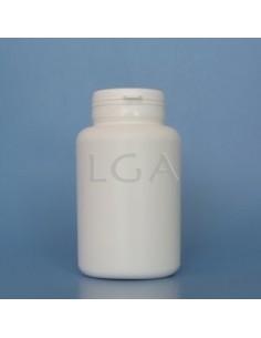 Pilulier plastique blanc 250ml, à couvercle inviolable