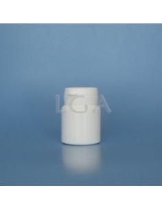 Pilulier plastique blanc 30ml, à couvercle inviolable