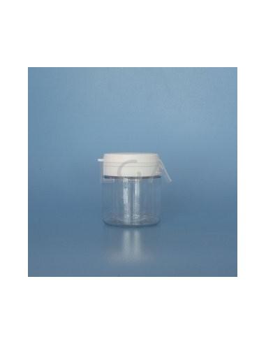 Pilulier plastique cristal 50ml, à couvercle inviolable