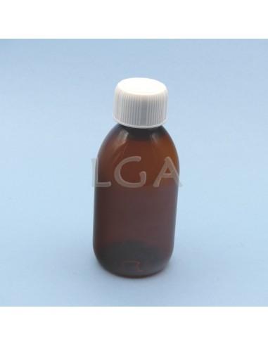 PET crystal amber round syrup bottles...