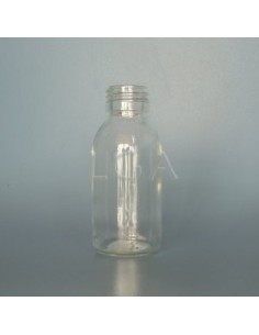 Flacon verre rond PP28 blanc 100ml
