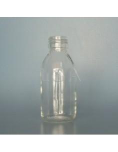 Flacon verre rond PP28 blanc 125ml