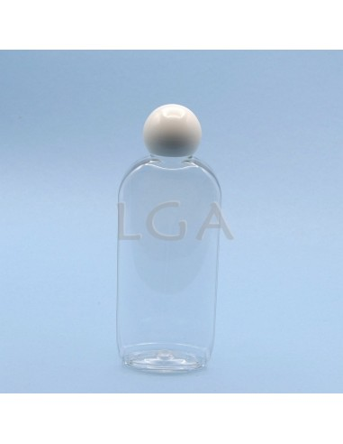 Oval PET crystal bottles Ø24 200ml
