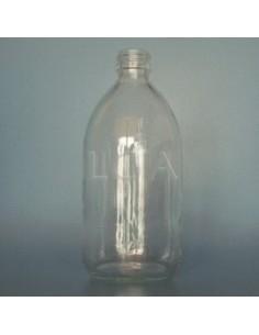 Flacon verre rond PP28 blanc 500ml