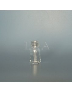 Flacon verre rond Ø18Ph blanc 10ml