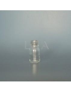Flacon verre rond Ø18Ph blanc 10ml