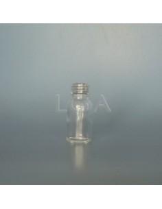 Flacon verre rond Ø18Ph blanc 15ml