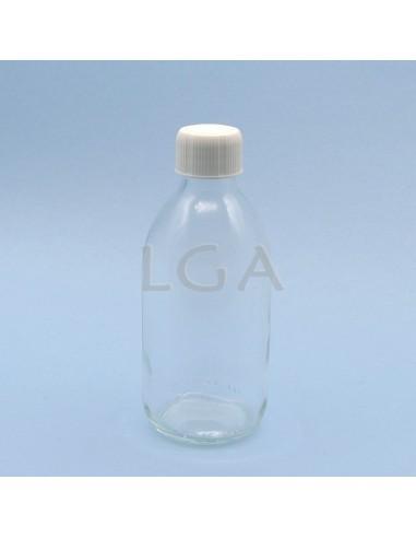 White glass round bottle ØPP28 300ml