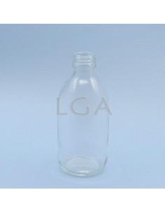 Flacon verre rond PP28 blanc 300ml